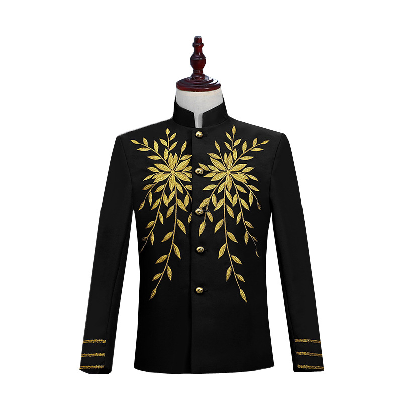 Men 39 s Stage Embroidered European Court Dresses Chinese Style Blazers White Suits White Red Black Mens Blazer in Blazers from Men 39 s Clothing