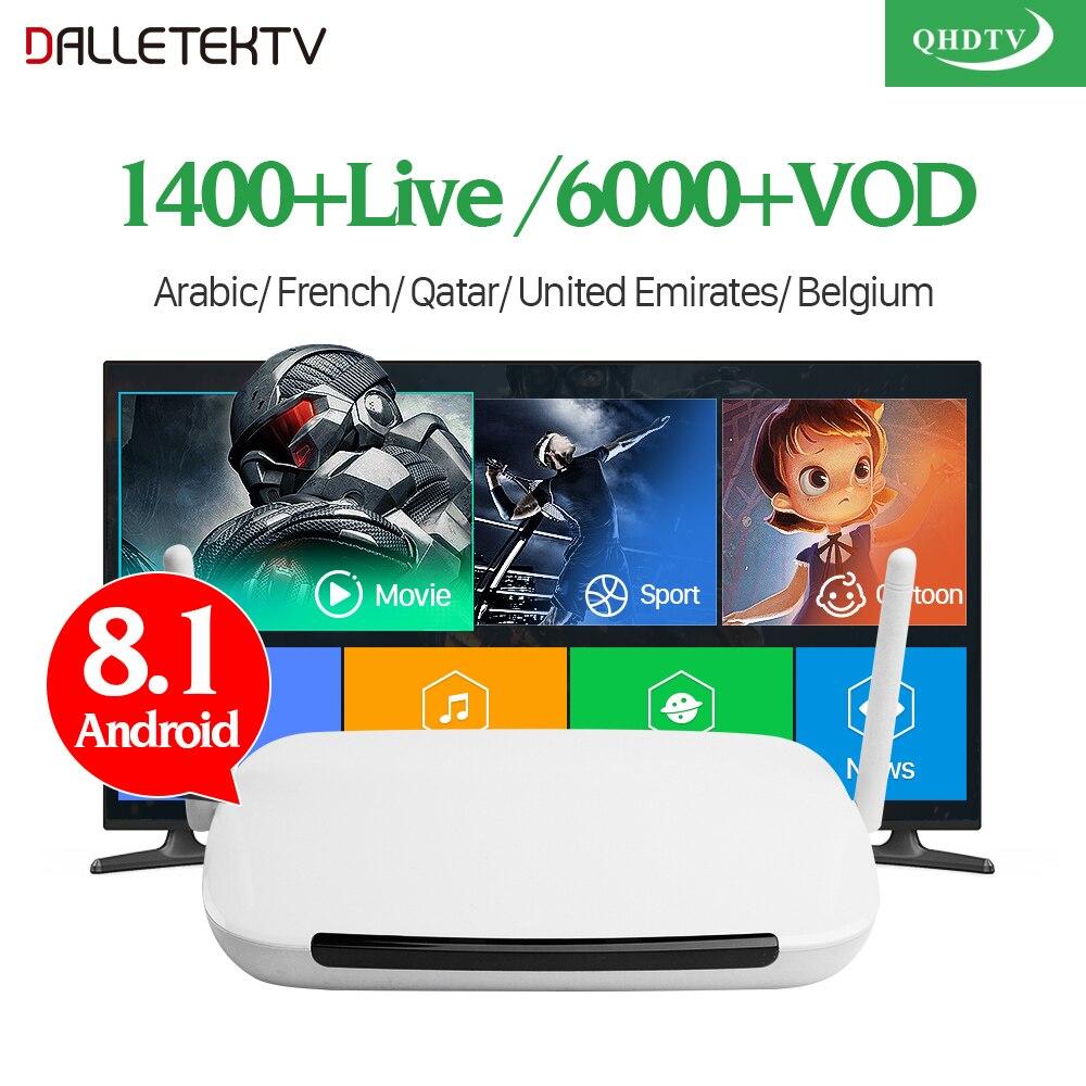 Q9 Arabic IPTV Box Android 8.1 TV Receivers With QHDTV IPTV Subscription IPTV Arabic France Belgium Netherlands Tunisia IP TV h96 pro plus iptv france box qhdtv iptv subscription android 7 1 tv receivers iptv arabic tunisia algeria belgium france