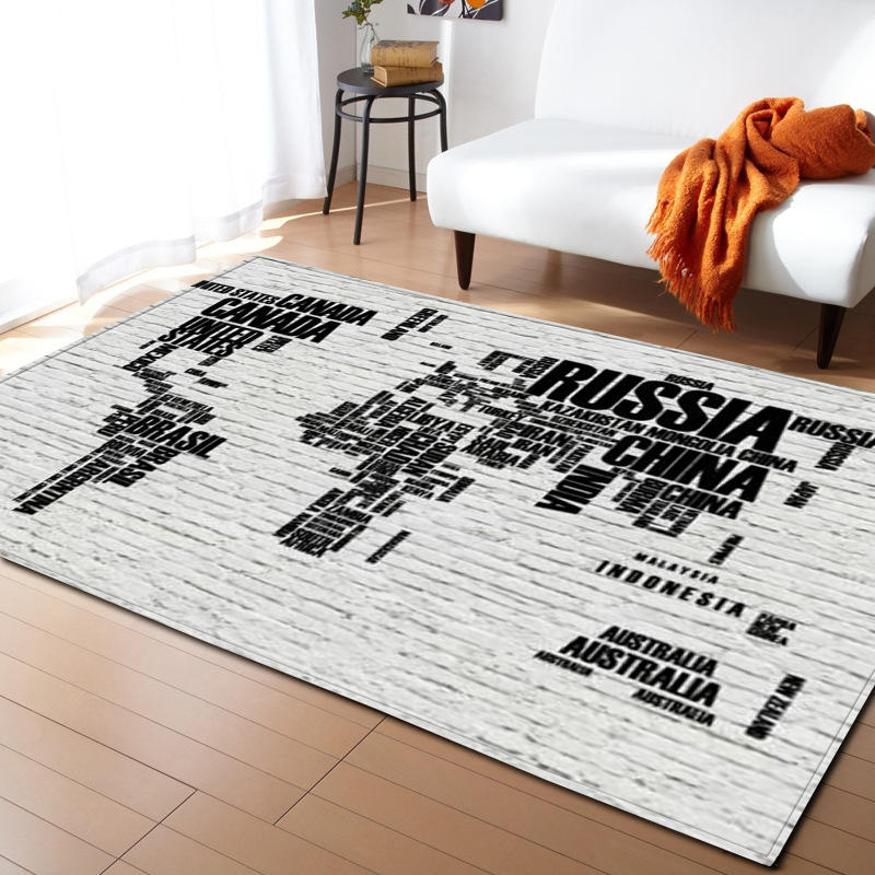 Moderne lettre impression tapis pour salon maison nordique tapis chambre chevet couverture zone tapis doux étude salle teppich tapis plancher - 5