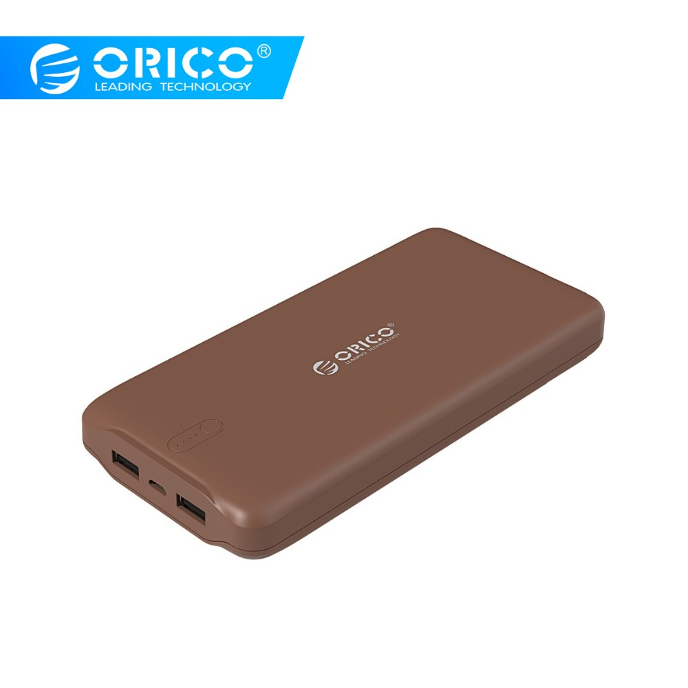 ORICO Power Bank 20000mAh Scharge Polymer Power Bank Portable External Battery Micro USB Charge For Xiaomi Huawei Samsung