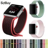 IDG Sport Woven Nylon Loop Strap For Apple Watch Band Wrist Braclet Belt Fabric Nylon Band