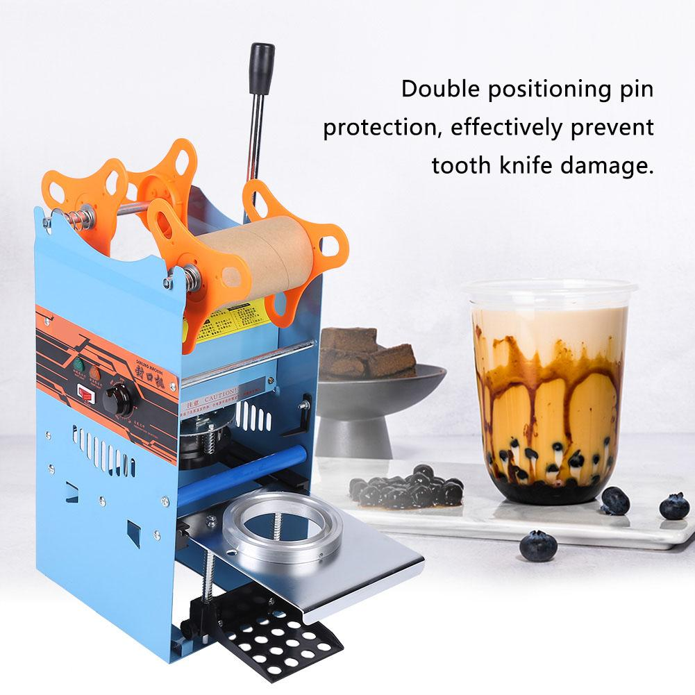 CN Plug 220V Beverage Sealing Packing Machine Electric Tea Cup Sealer Manual Bubble Cup Sealing Machine 400-500Cups/h Чай с шариками