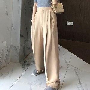 Image 2 - Twotwinstyleズボン女性のハイウエスト因果ルースワイド脚パンツ女性2020秋の韓国のファッションエレガントな潮