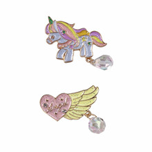 Popular fashion beautiful sweet girl angel wings color small animal brooches Ms decorations Send free send free 10pcs rdc19222 302rdc19222 202rdc19222 203