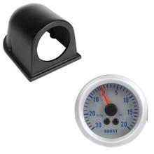 Turbo Boost/вакуумметр метр для Авто 2 «52 мм 0 ~ 30in. hg/0 ~ 20PSI оранжевый свет с одной датчика метр Pod держатель