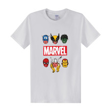 Men Marvel T-Shirt Casual O-Neck Tees Cotton Cartoon Superhero