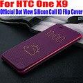 Для HTC One X9 ТПУ Кремния Case Официальный Лучшее Качество Вызова ID Dot Посмотреть Смарт Проснуться Сна Откидная Крышка Для HTC X9 X91