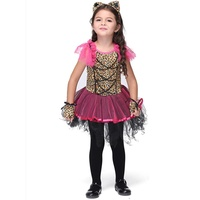 2017 Girls Catwoman Cosplay Dresses Children S Day Fancy Tutu Ball Gown Dress Kids Catgirl Costume