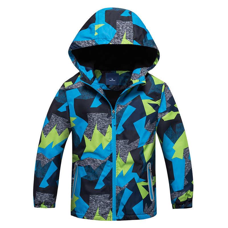 2019 детские куртки Весенняя верхняя одежда из флиса для детей теплая спортивная детская одежда водонепроницаемые ветрозащитные топы для мальчиков, От 3 до 12 лет