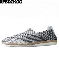 Summer Men Casual Shoes Hot Sale Breathable Cheap Woven 2017 Comfort Slip On Popular Fashion Summer