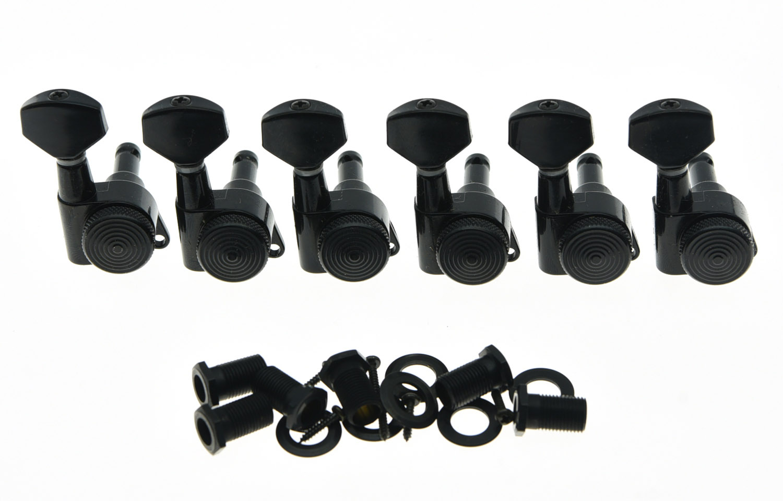 Quality Wilkinson Locking Guitar Tuners Tuning Keys Pegs 6 Inline Machine Heads Black