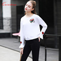 Quintina 2017 New Arrival Long Sleeve Spring Lady T-Shirt Fashion Tees For Women Plus Size Tops Women Tops Alien Tee Shirt Femme
