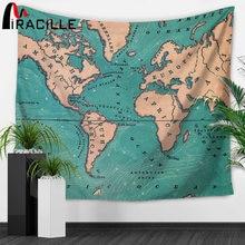 Miracille карта мира индийский гобелен хиппи настенный Бохо