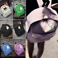 Cartoon Cat Women Men Canvas Backpacks Schoolbags for Girls Boys Teenagers Casual Travel Bags Rucksack mochila N4