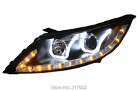for Kia Sportage R Head lamps 2010 2013 V2 with DRL Light & LED Turn light LD