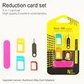 Adaptador inalámbrico 2016 Nuevo 5 en 1 Nano Tarjeta Sim Adaptadores + Micro Sim Ordinario tarjeta sim estándar + herramientas para iphone 4 4s 5 5c 5s 6 6 s