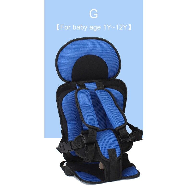 1 шт. удобный детский коврик для сидения, Детские Портативные дорожные подушки для стульев с ремнем безопасности, коврики для сидения для малышей в возрасте От 6 месяцев до 12 лет - Цвет: G