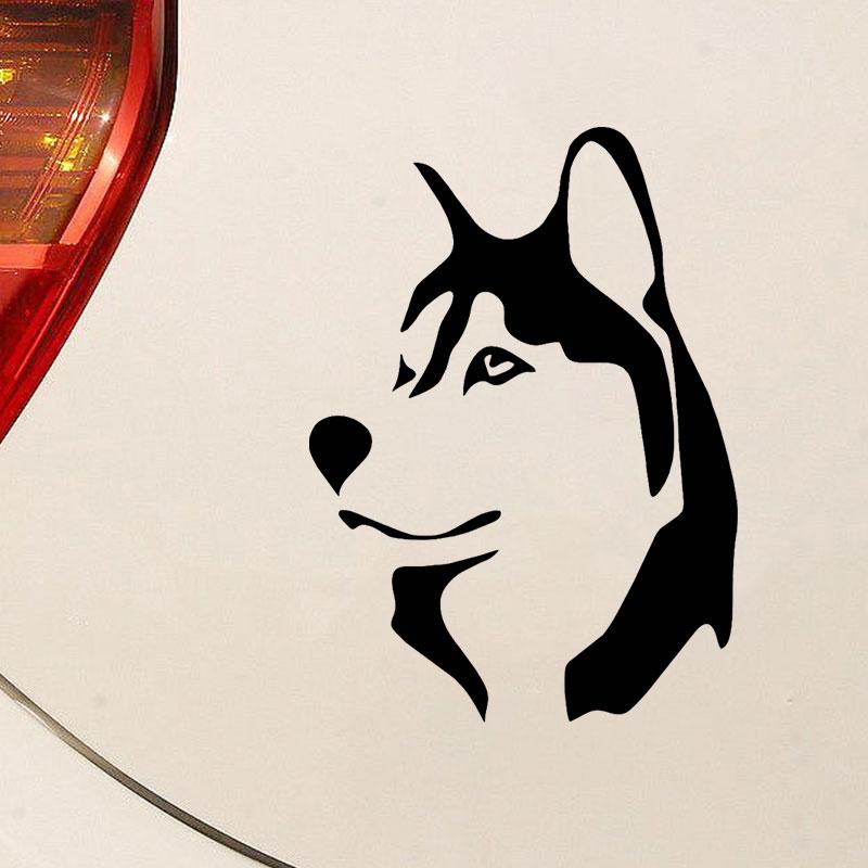 Hot Sale Cool Husky Car Sticker Funny Vinyl Car Wrap Window Dog