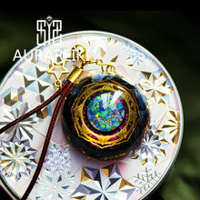 Orgonite Energy จี้ Eye Storm Reiki Shiaogu แขวนสร้อยคอ Amulet ส่งเสริม Chakra EMF ป้องกันสมดุลพลังงานบวก