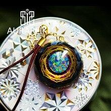 Orgonite collier suspendu œil de tempête Reiki Shiaogu, amulette, promotion du Chakra, EMF Protection, équilibre énergétique positif