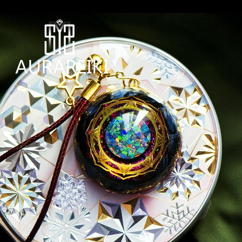 Pendentif d'énergie Orgonite tempête d'yeux Reiki Shi'aogu accroche collier amulette promouvoir Chakra EMF Protection équilibre énergie Positive