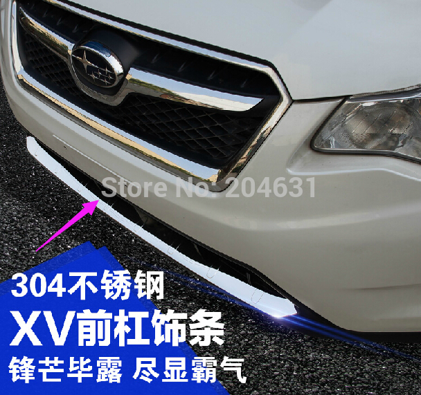 High Quality Stainless steel Front bumper guard Trim For SUBARU XV 2012 2013 2014 anti-rub refires chrome trim fast air ship for 2014 luxgen large 7 high quality stainless steel rear bumper guard