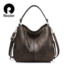 Фотография REALER brand handbag women shoulder bag female casual large tote bags high quality artificial leather ladies hobo handbag