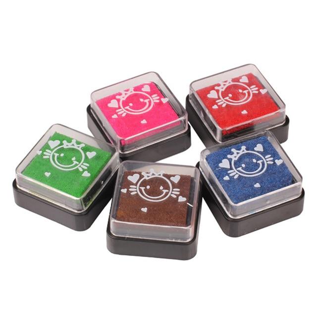 5 Colors Stamp Ink Pad DIY Scrapbooking Colorful Foam Inkpad Sealing Decoration Kids Fingerprint Card