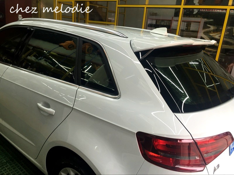 ABT style Primer grey unpainted ABS Car Rear roof Spoiler Wing For Audi A3 S3 sportback 2014-2016, no drilling needed pu rear wing spoiler for audi 2010 2011 2012 auto car boot lip wing spoiler unpainted grey primer