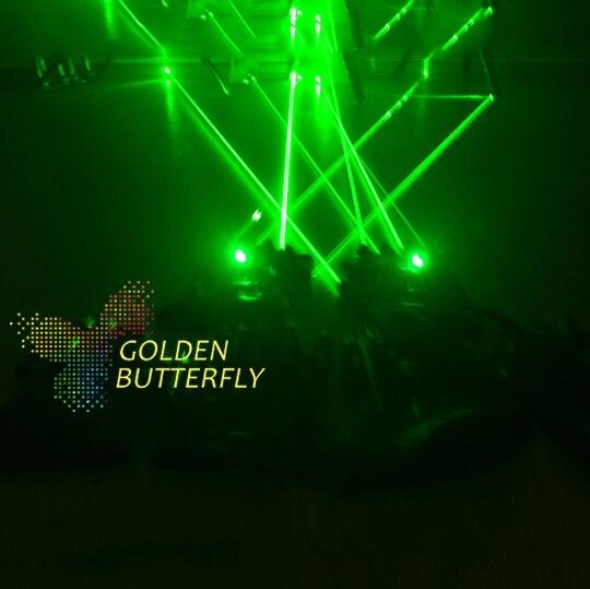 LED Прихватки для мангала 2017 Лидер продаж высвечиваться лазерной Прихватки для мангала света Реквизит Костюмы LED робот Прихватки для мангала