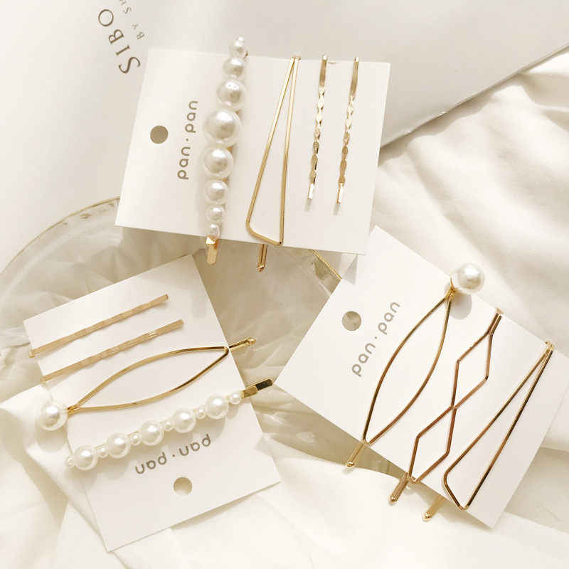 3Pcs/Set Pearl Metal Hair Clip Hairband Comb Bobby Pin Barrette Hairpin Headdress Accessories Beauty Styling Tools New F091