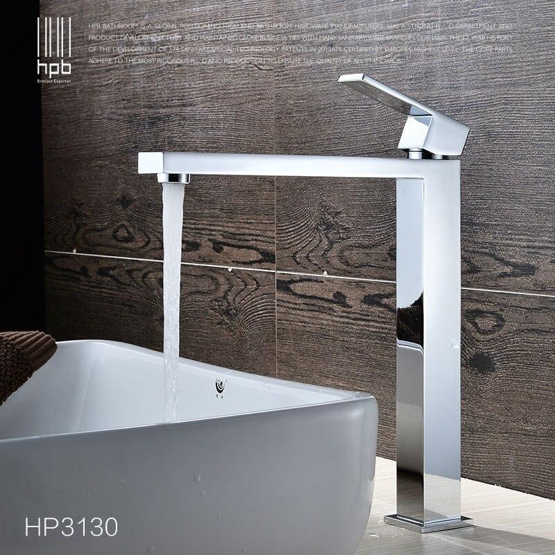 HPB laiton robinet de lavabo haut corps eau chaude et froide mitigeur salle de bain robinet d'eau torneira HP3130
