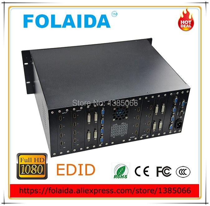 Professional 16X8 HDMI Matrix Switch Slot Plug-<font><b>in</b></font> HDCP 1080P 3D 4K*2K <font><b>Blu-ray</b></font> Video Auto <font><b>Loop</b></font> RS232 IR 16U -01