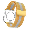Watchbands For Applewatch 2 Milanese Loop Yellow Gold Plated Stainless Steel Two-Tone Band & Watch Protective Case APB1757KB