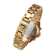 2017 Luxury Fashion women Watches Quartz Steel Waterproof Diver Reginald Top Brand Gold Wrist Watches  relogio feminino
