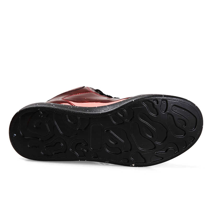 Moipheng Ủng Nữ Thu Đông 2019 Đầu Mùa Đông Đáy Dày Cao Trên Bảng Thời Trang Tráng Gương Mắt Cá Chân Giày Người Yêu Giày