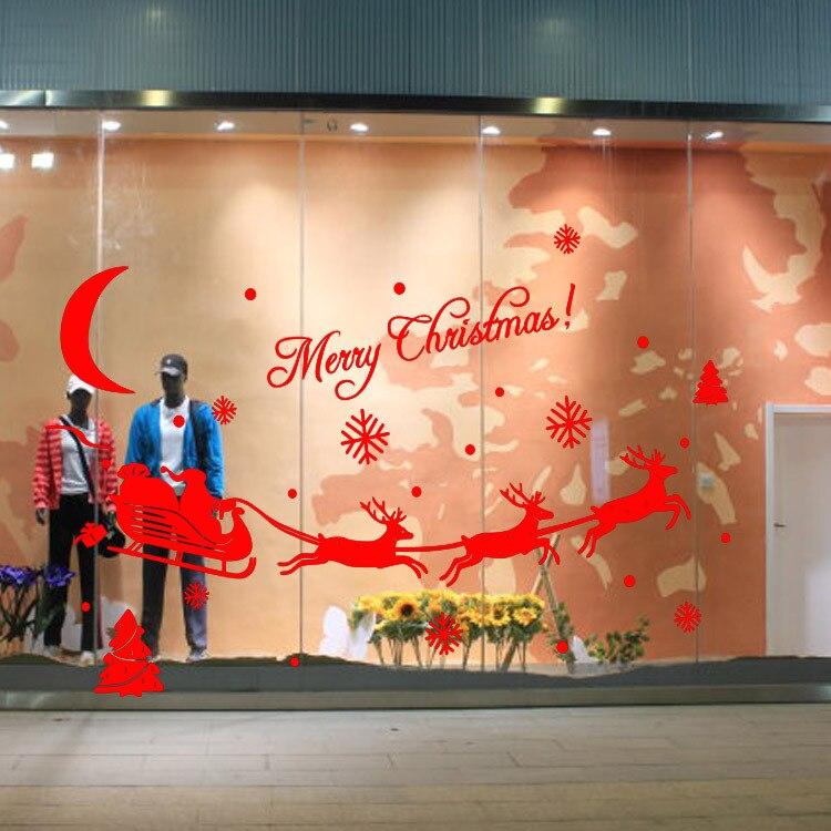 nuevo feliz navidad de santa claus holiday party decoracin etiqueta de la pared decoracin para el