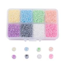 1 box 2mm 3mm 4mm Glass Pearl Czech Seed Beads Round Loose Spacer Beads Mixed Color For DIY Jewelry Accessories Finding Making 1box mixed style round glass pearl beads mixed color crafts jewelry diy maker supplies hot sale