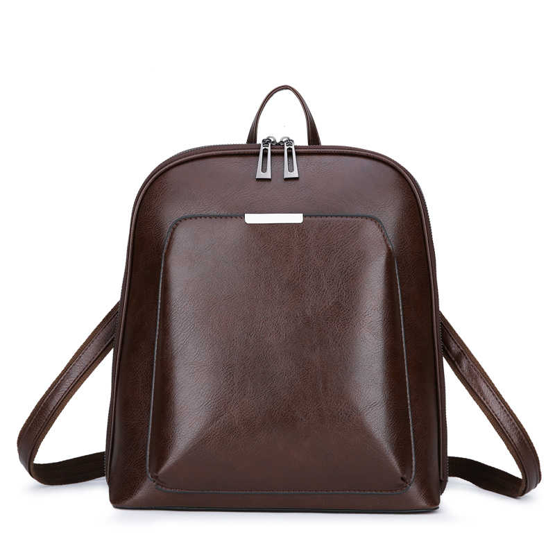 d4356f14e6e4 Fashion Women Backpack High Quality Youth Leather Backpacks for Teenage  Girls Female School Shoulder Bag Daily