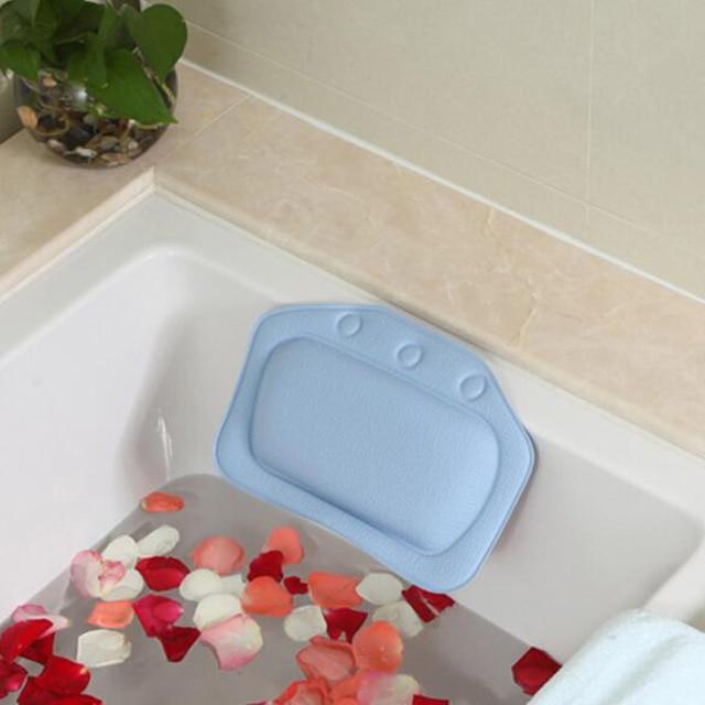 Wholesaling Household Comfortable Colorful Bathroom Supplies Bathtub Pillows Headrest Waterproof Bath Pillows 31x21cm