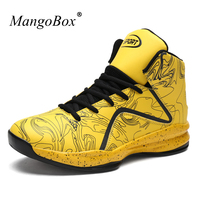 MangoBox Basketball Shoes Men Black Yellow Sport Boots Boys Super Cool Jump Youth Shoes Size 39