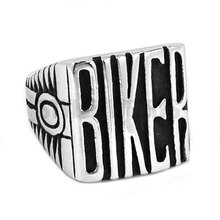 Vintage Engine BIKER Motorcycles Biker Ring Stainless Steel Jewelry Carve Words Motor Biker Men Ring Wholesale SWR0441A