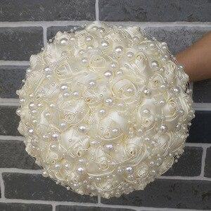 Image 4 - WifeLai A New Ivory Cream Pearls Brooch Wedding Bouquets buque de noiva Bridal Wedding Bouquets Festival Flowers W3018 17