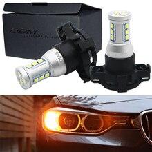 IJDM Canbus PY24W LED لمبات لسيارات BMW الجبهة بدوره أضواء الإشارة ، صالح E90/E92 3 سلسلة ، F10/F07 5 سلسلة ، E83/F25 X3 E70 X5 E71 X6