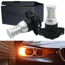 Ijdm canbus py24w lâmpadas de led, para bmw luzes de seta dianteira, fit e90/e92 3 séries, f10/f07 5 series, e83/f25 x3 e70 x5 e71 x6