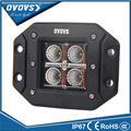 OVOVS 4 polegada dianteira para carros 12 V 24 V IP67 montagem embutida offroad 12 w led trabalho leve para wrangler 4x4