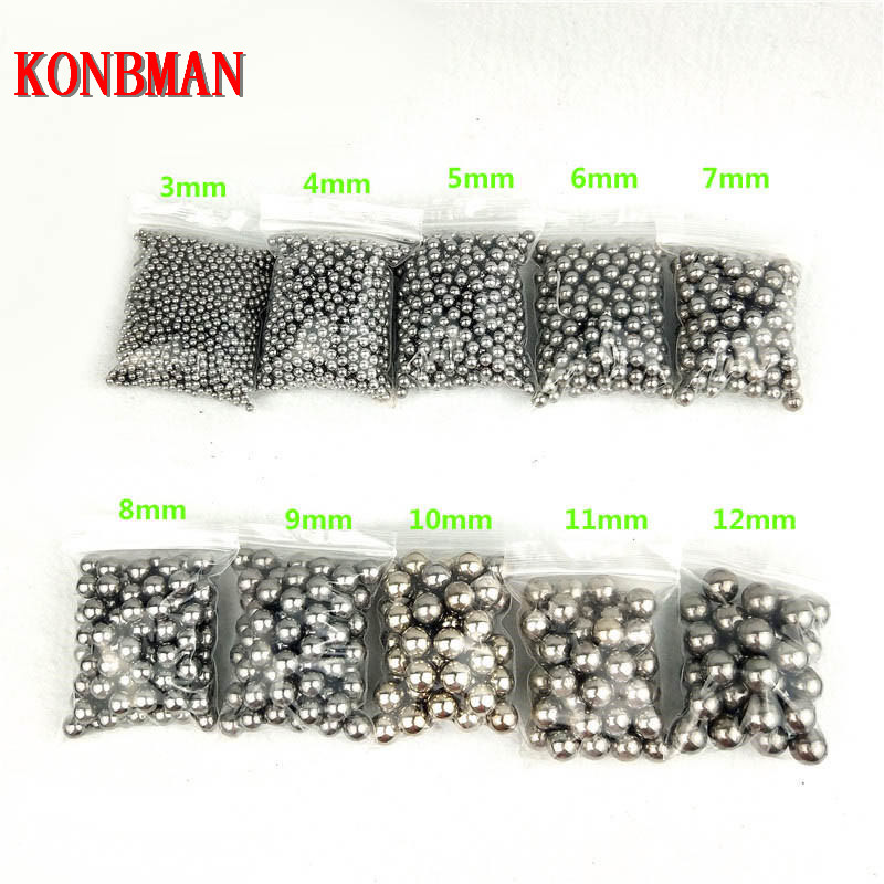 Shooting Steel Balls 5mm 6mm 7mm 8mm 9mm 10mm 11mm Hunting Slingshot Stainless AMMO outdoor wholesale 100pcs/lot 2