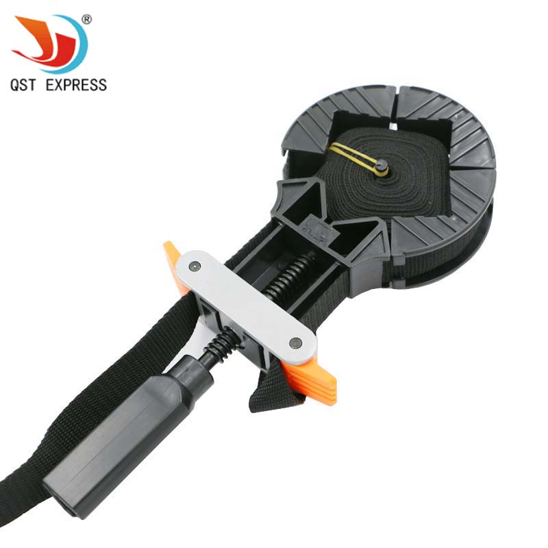 QSTEXPRESS Multifunction Belt Clamp Woodworking Quick Adjustable Band Clamp Polygonal clip 90 Degrees Hand Tools