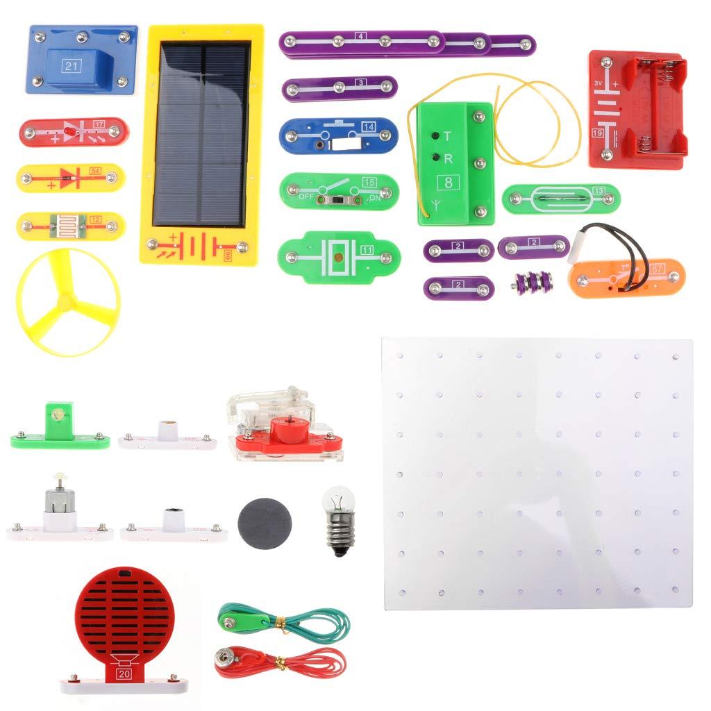 38 pièces Circuits Électriques Modèle Expérimental Électronique D'exploration Kit L'apprentissage des Sciences jouets éducatifs pour Enfants Enfants