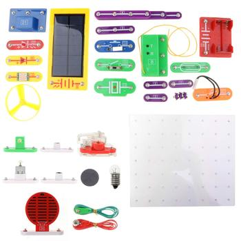 38pcs Electrical Circuits Experimental Model Electronic Exploration Kit Science Learning Educational Toys for Children Kids